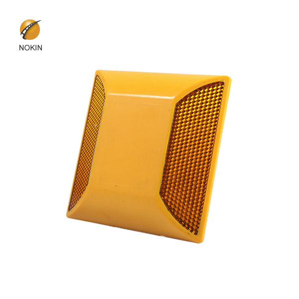 Amber Raised Reflective Pavement Markers On Road NK-1002