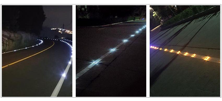 Ultra Thin PC Solar Stud Light For Road