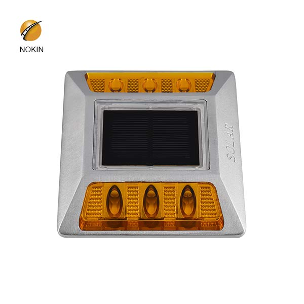 Yellow Flashing Aluminum Raised Solar Cat Eyes Road Stud On Road NK-RS-A6