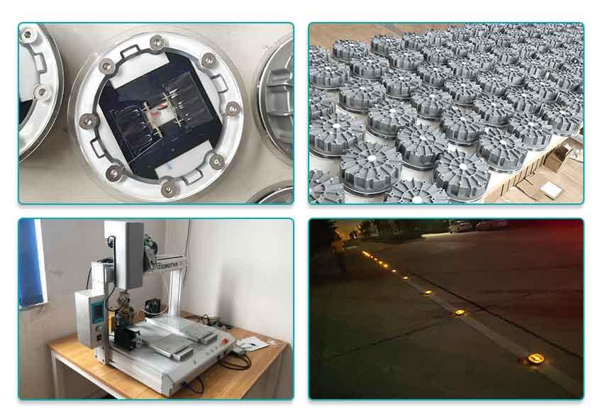 heavy duty solar road stud in production
